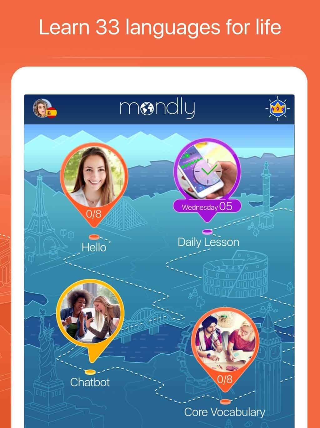 Learn Over 30+ Languages With Mondly (Lifetime Access)