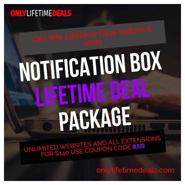 Only Lifetime Deals - Notification Box Lifetime Deal
