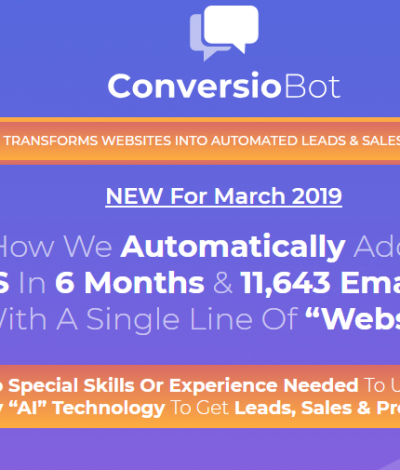 Lifetime Deal to ConversioBot header