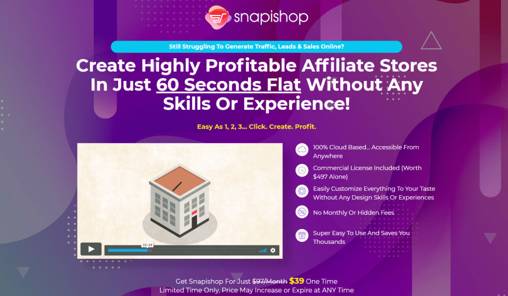 Lifetime Deal to Snapishop content