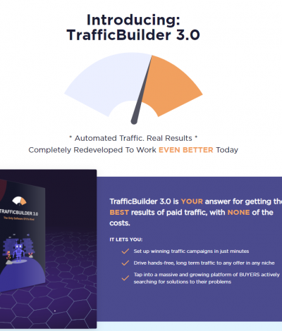 Lifetime Deal to TrafficBuilder header