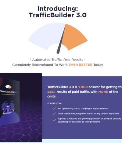 Lifetime Deal to TrafficBuilder header