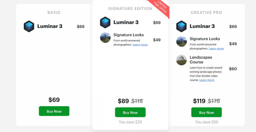 Only Lifetime Deals - Lifetime Deal to Luminar 3 Content pricing
